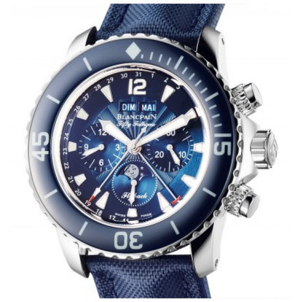 Blancpain watches Fifty Fathoms Calendar Moon Phase Flyback Chronograph