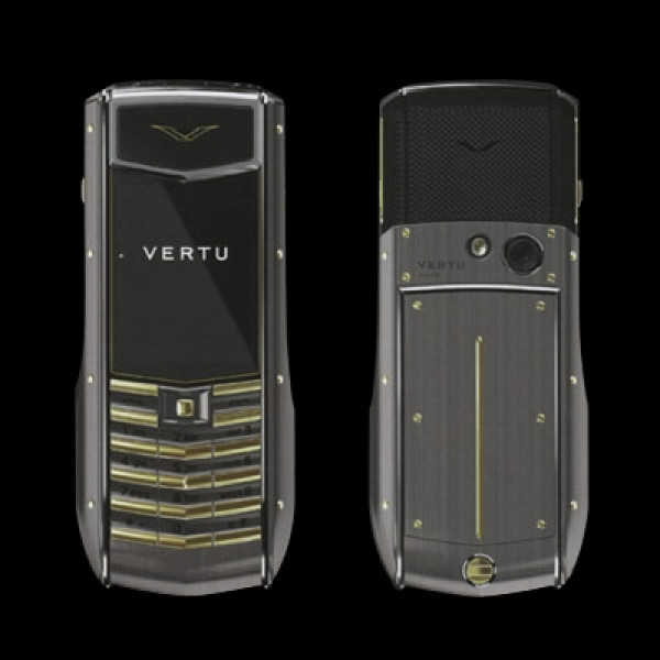 Vertu Ascent Ti Brushed Titanium Gold Keys