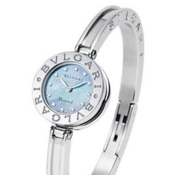 Bvlgari Bvlgari B.zero1 Diamond Blue Mother-of-pearl Steel Bangle Ladies Watch