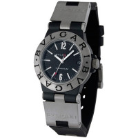 Bvlgari Bvlgari Diagono Titanium and Black Rubber Ladies Watch