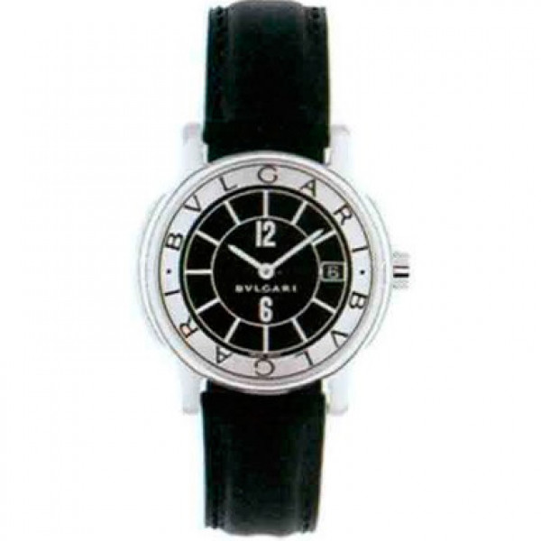 Bvlgari Bvlgari Solotempo Black Leather Day Ladies Watch