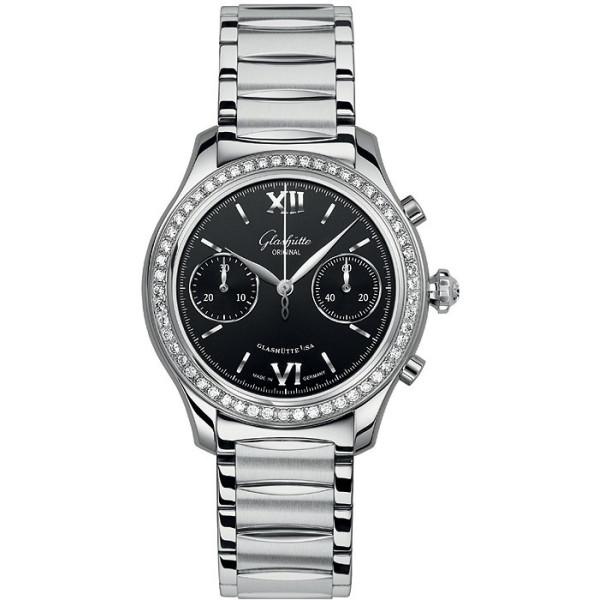 Glashutte Original Lady Serenade Chronograph Diamond Bezel on Bracelet