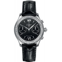 Glashutte Original Lady Serenade Chronograph Diamond Bezel on Strap
