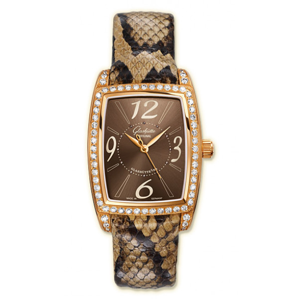 Glashutte Original Lady Serenade Karree (RG_Diamonds Brown Leather)