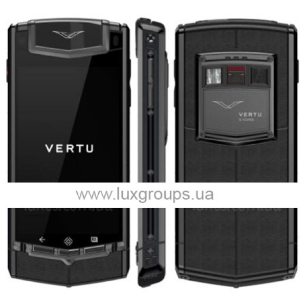 Vertu Ti Matt Titanium PVD Black Leather