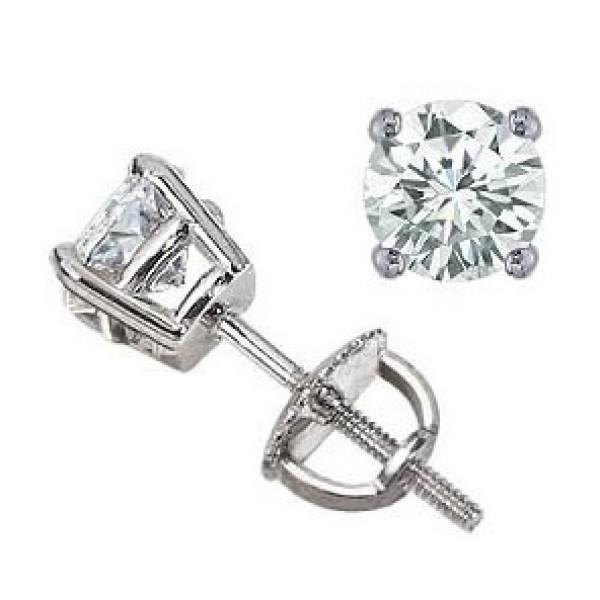 Серьги-пусеты Tiffany & Co, белое золото с бриллиантами