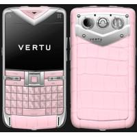 Vertu Constellation Quest Steel Pink Alligator
