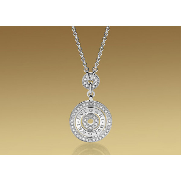 Ожерелье Bulgari Astrale, белое золото, бриллианты