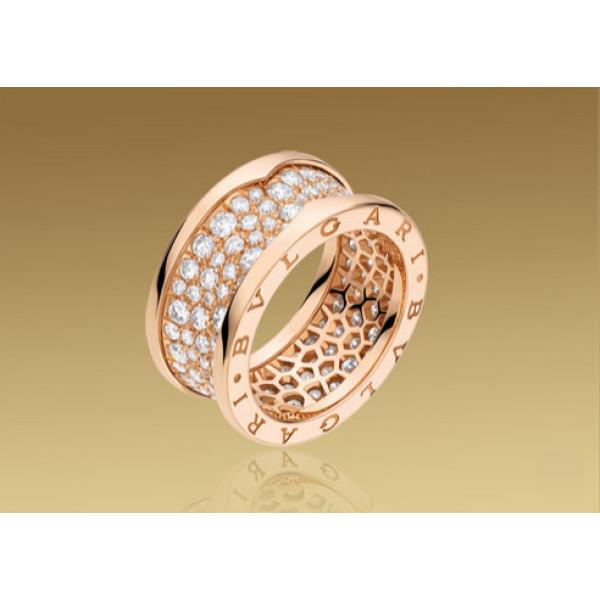Кольцо Bulgari B.Zero1, розовое золото, бриллианты