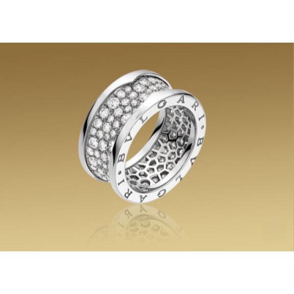 Кольцо Bulgari B.Zero1, белое золото, бриллианты