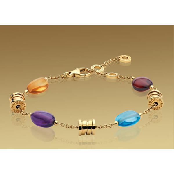 Браслет Bulgari B.Zero1, желтое золото,  драгоценные камни