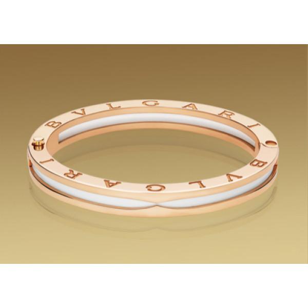 Браслет Bulgari B.Zero1, розовое золото, белая керамика