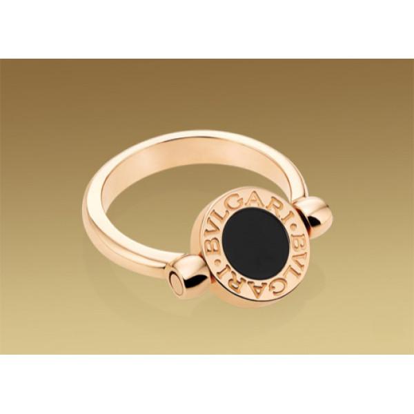 Кольцо Bulgari Bulgari розовое золото, перламутр, оникс