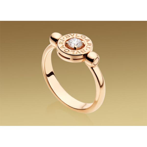 Кольцо Bulgari Bulgari розовое золото, бриллиант