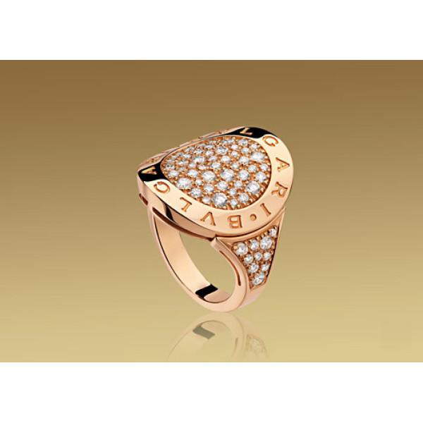 Кольцо Bulgari Bulgari розовое золото, бриллианты