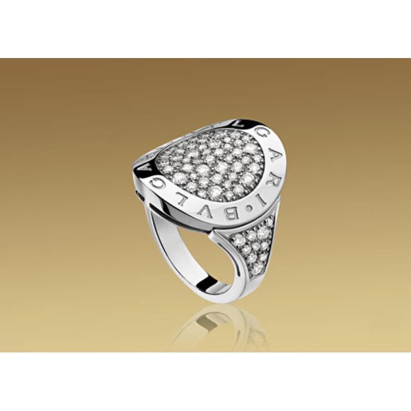 Кольцо Bulgari Bulgari белое золото, бриллианты