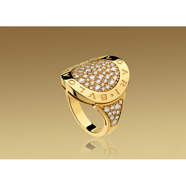 Кольцо Bulgari Bulgari желтое золото, бриллианты