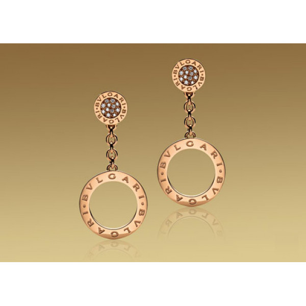 Серьги Bulgari Bulgari розовое золото, бриллианты