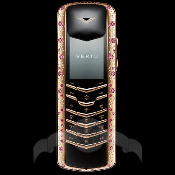 Vertu Signature Coloured Diamonds Розовое золото, розовые сапфиры