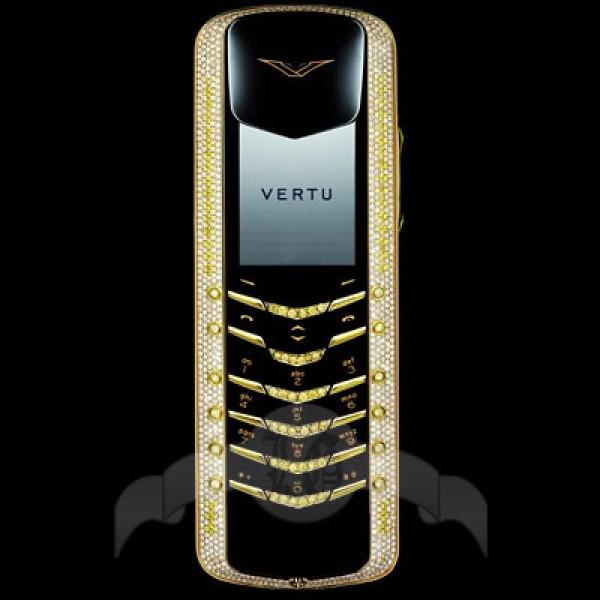 Vertu Signature Coloured Diamonds Белое золото, белые и жёлтые бриллианты