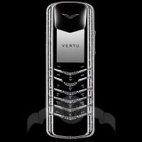 Vertu Signature Coloured Diamonds Белое золото, белые и чёрные бриллианты