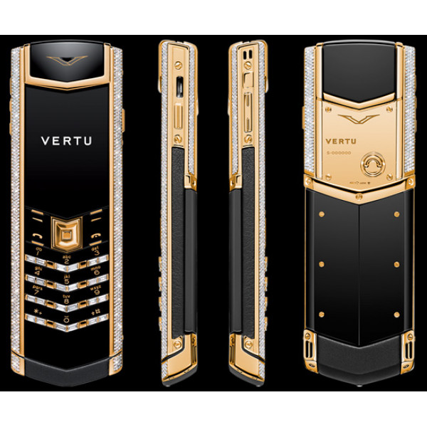 Vertu Signature S Design Yellow Gold Full Diamond