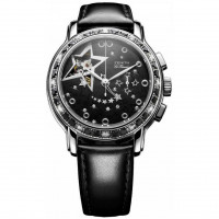 Zenith Star Open Glam Rock (SS-Diamonds / Black / Leather)