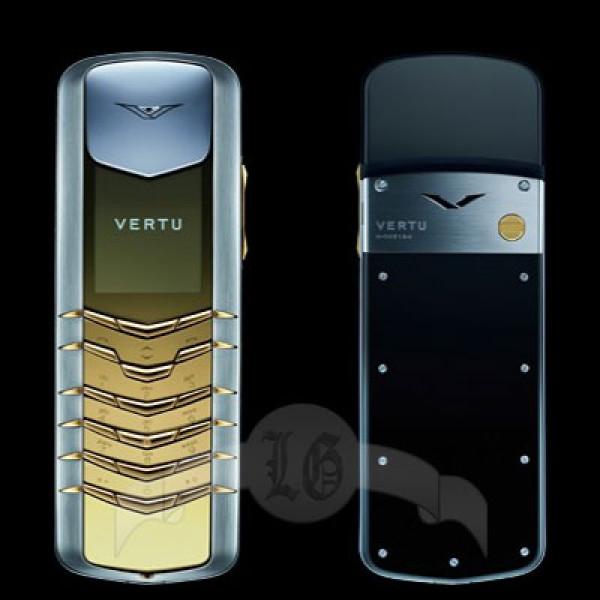 Vertu Signature Сталь, жёлтый металл-2