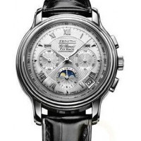 Zenith ChronoMaster GT Moonphase (WG/Silver Guilloche/Leather)