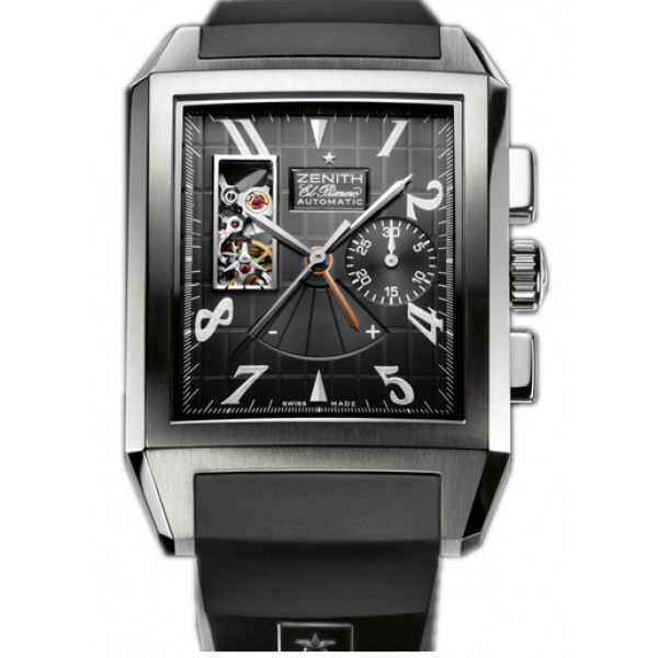 Zenith Grande Port Royal Open (SS / Black / Rubber)