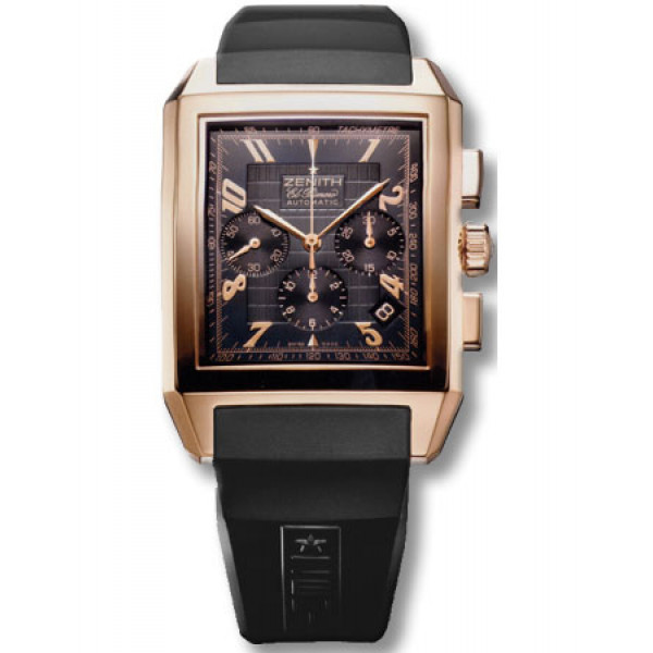 Zenith Grande Port Royal (RG / Black / Rubber)