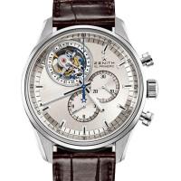 Zenith El Primero Tourbillon Chronograph Steel silver sunray dial