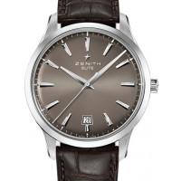Zenith Captain Central Second Steel Grey Dial