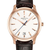 Zenith Captain Central Second Rose Gold White Dial