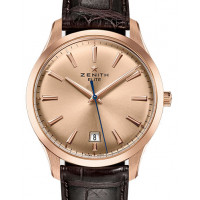 Zenith Captain Central Second Rose Gold Champain Dial