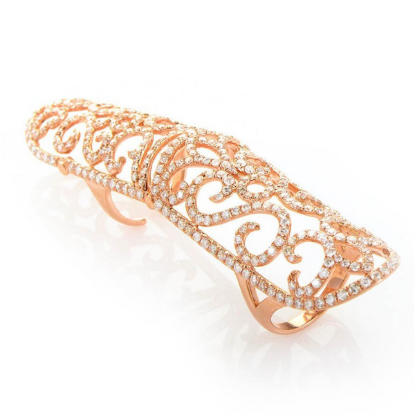 Кольцо Jacob & Co, розовое золото, бриллианты