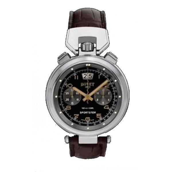 Bovet watches Chronograph 44mm Steel with blackened inner bezel