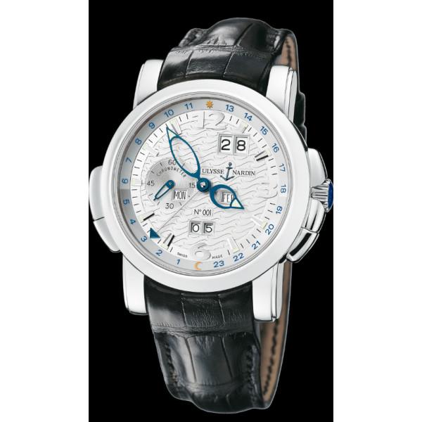 Ulysse Nardin GMT +/- Perpetual (Platinum / Silver / Leather)
