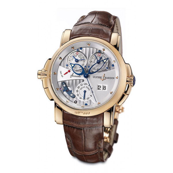 Ulysse Nardin Sonata Cathedral Dual Time (RG / White / Leather)