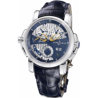 Ulysse Nardin Sonata Cathedral Dual Time (WG / Blue / Leather)