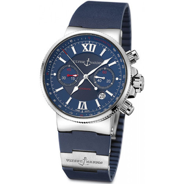 Ulysse Nardin Maxi Marine Chronograph (Steel / Blue / Rubber)