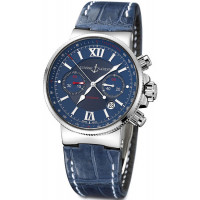 Ulysse Nardin Maxi Marine Chronograph (Steel / Blue / Leather)