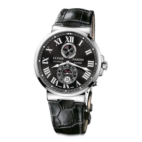 Ulysse Nardin Maxi Marine Chronometer 43mm (Steel / Black / Leather)