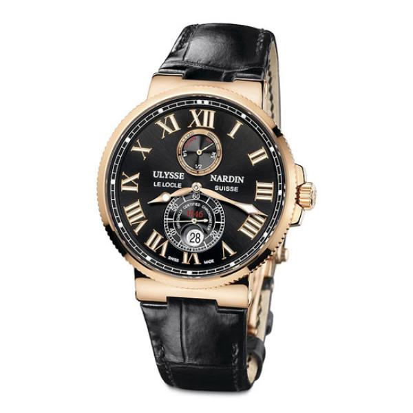 Ulysse Nardin Maxi Marine Chronometer 43mm (RG / Black / Leather)