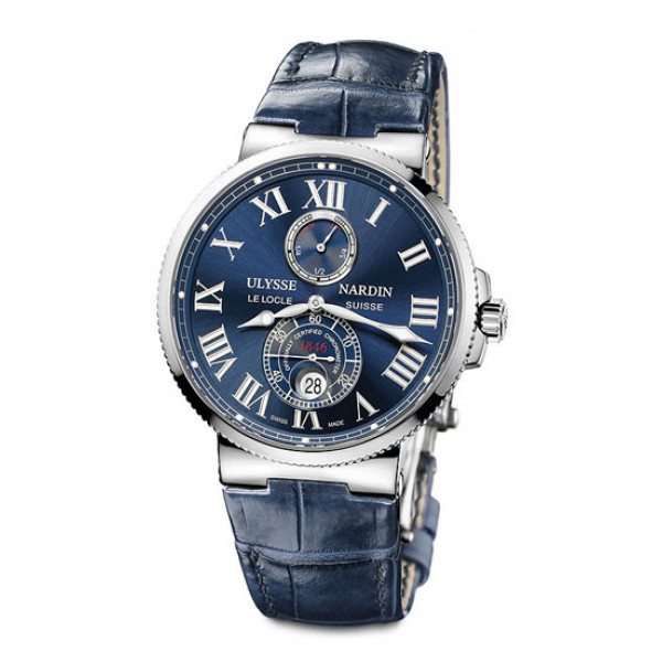 Ulysse Nardin Maxi Marine Chronometer 43mm (Steel / Blue / Leather)
