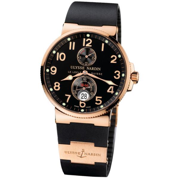 Ulysse Nardin Maxi Marine Chronometer (18kt RG / Black / Rubber)