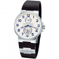 Ulysse Nardin Maxi Marine Chronometer (Steel / Silver / Rubber)