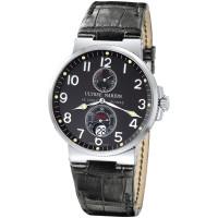 Ulysse Nardin Maxi Marine Chronometer (Steel / Black / Leather)