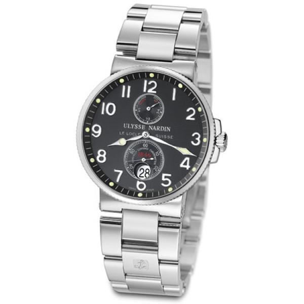 Ulysse Nardin Maxi Marine Chronometer (Steel / Black / Steel)