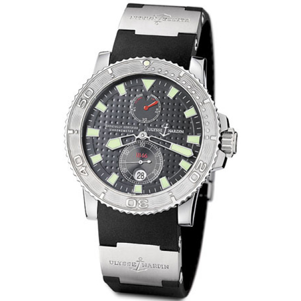 Ulysse Nardin Maxi Marine Diver Chronometer (Steel / Grey / Rubber)